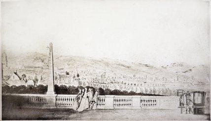 View from South Parade towards Bathwick, Bath c.1780