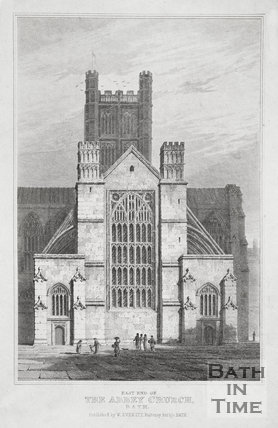 East End of the Abbey Church, Bath c.1815