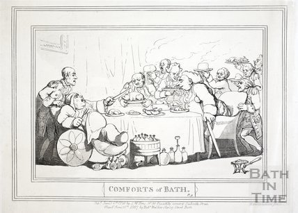 Comforts of Bath, Plate 9. The Upper Assembly Rooms. 1798, republished 1857