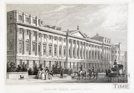 Part of Queen Square, Bath 1829