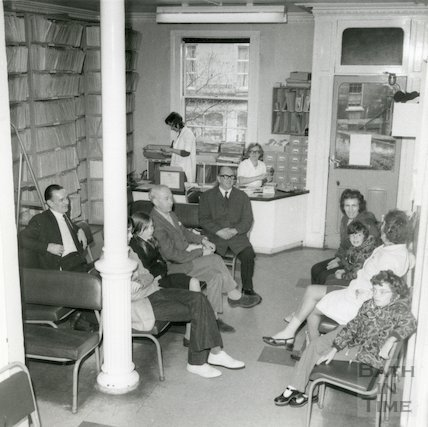 Bath Eye Infirmary, Belvedere - waiting room, c.1960s