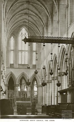 Downside Abbey, the Choir, c.1950s?