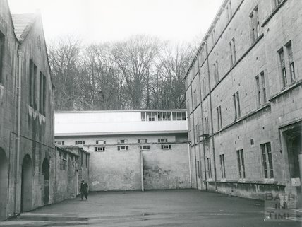 Kingswood School courtyard,, 18 February, 1975