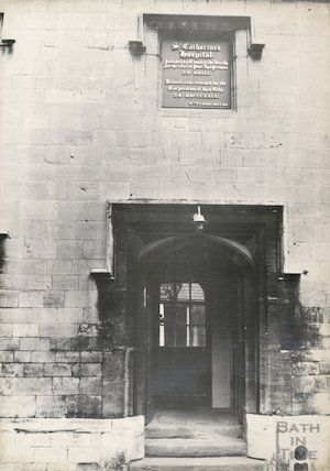 Saint Catherine's Hospital, Bath, doorway 1965