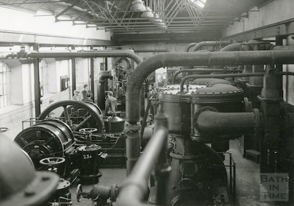 Bath Gas Works, compressors and exhausts, June 1971
