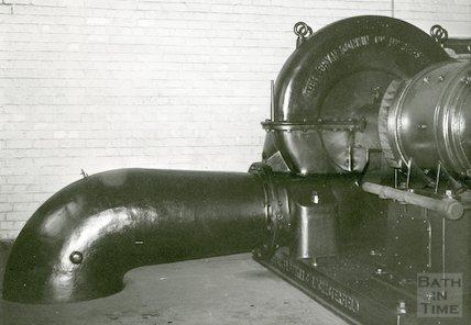 Bath Gas Works, blower, CWG plant, June 1971