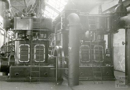 Bath Gas Works, compressors for distribution, June 1971