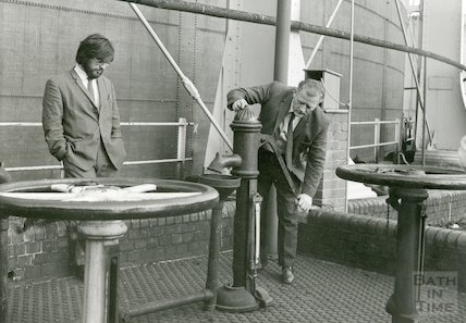 Bath Gas Works, Syphon pump by No. 5 holder, June 1971