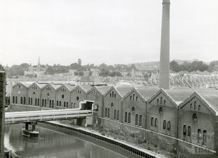 Bath Gas Works, oldest retort house, June 1971