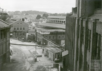 Bath Gas Works, West from retort house, June 1971