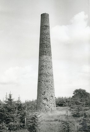 Chimney Stack on the site of the East Harptree Leadworks, c.1970s?
