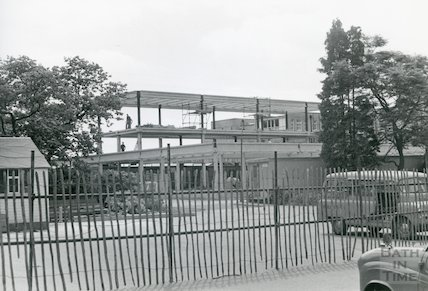 Combe Park Manor Hospital New Centre under construction, c.1906s