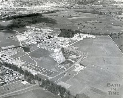 1975 Aerial view of the University of Bath, Claverton Down