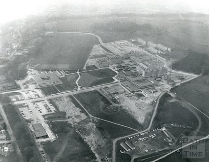 1971 Aerial View of Bath University of Technology, Claverton Down