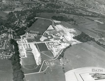 Bath University of Technology - aerial view March, 1970