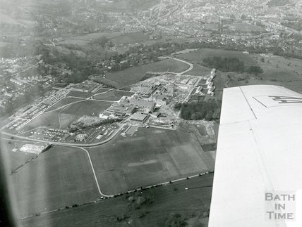 Bath University of Technology - aerial view March, 1973