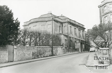 Bath High School with the Lansdown Grove Hotel Opposite, Lansdown Hill, Bath, c.1960s