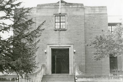 Hayesfield School, Bath -  left hand entrance, c.1960s
