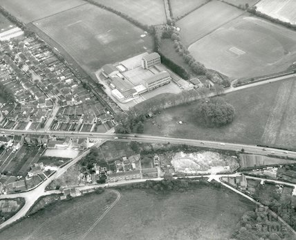 Cardinal Newman's School, Bath - aerial view April, 1969
