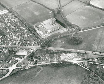 Cardinal Newman's School, Bath - aerial view April, 1969