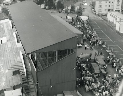 Market at Twerton Football Ground October, 1972