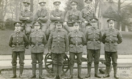 2nd 2nd Wessex Royal Engineers with gun, Royal Victoria Park c.1915
