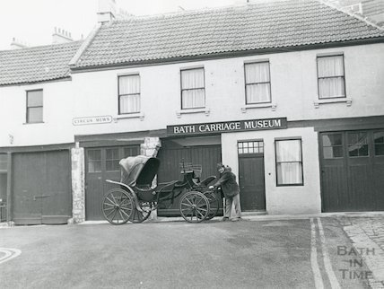 Bath Carriage Museum, Circus Mews, Bath, 1976