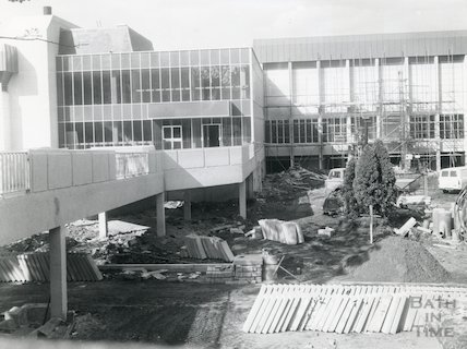 Bath Sports and Leisure Centre, building in progress, 1972