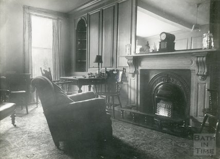 The Christopher Hotel, High Street, writing room and lounge, c.1910