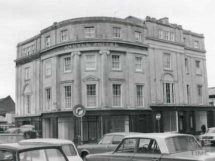 The Argyll Hotel, Dorchester Street, Bath, 1977