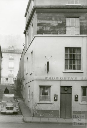 The old Longacre Tavern, London Road, Bath, January 1969