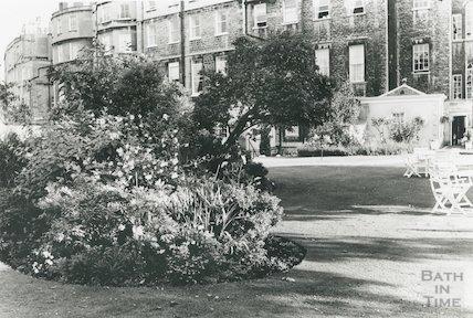 Royal Crescent Hotel garden, summer, 1991