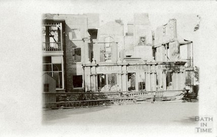 The Bath Hotel, Felixstowe, after a fire, 1914