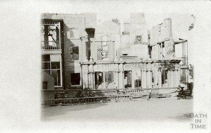 The Bath Hotel, Felixstowe, after a fire, 1914