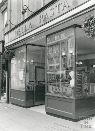 Bella Pasta, next door to Jolly's, Milsom Street, Bath, 1993