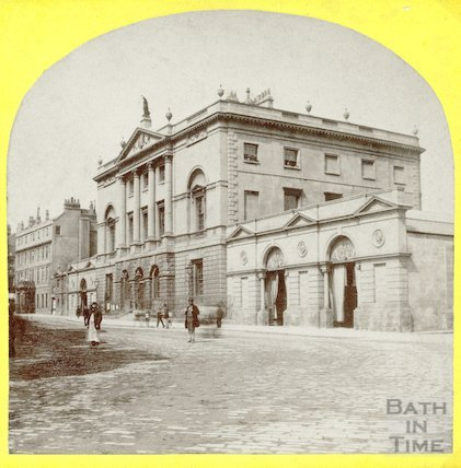 Guildhall, High Street, Bath stereoscope view c.1870