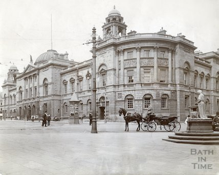 The Guildhall, general view from Abbey c.1910