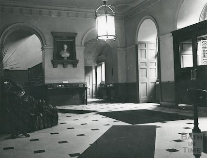 Guildhall entrance hall (before redecoration) January, 1969