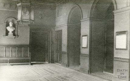 Guildhall entrance hall showing corner, 1911