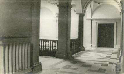 Guildhall corridor and top of staircase, 1911