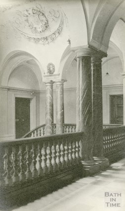 Guildhall showing plasterwork in ceiling, 1911