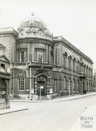 Municipal Library and Victoria Art Gallery from Pulteney Bridge, c.1930s