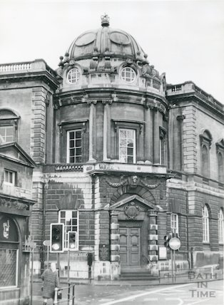 Central Library, Bridge Street view from Pulteney Bridge, c.1970