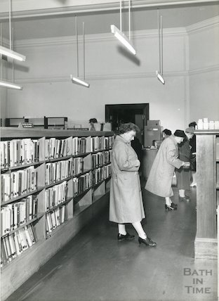 Bath Lending Library, Bridge Street, 1960