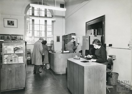 Bath Lending Library, Bridge Street,  counters 1960