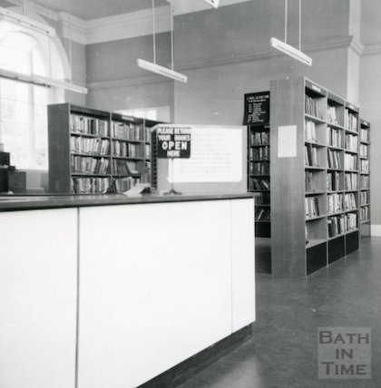 Bath Lending Library following alteration - view from main counter June, c.1965