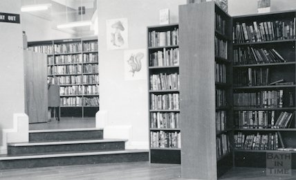 Bath Lending Library following alteration - view from junior library June, c.1965