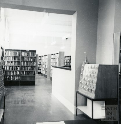 Bath Lending Library following alteration - view from enquiry desk June, 1965