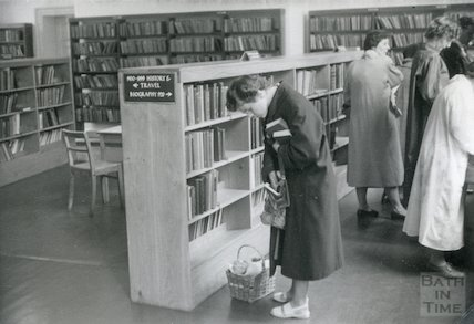 Bath Lending Library, Bridge Street, c.1950s