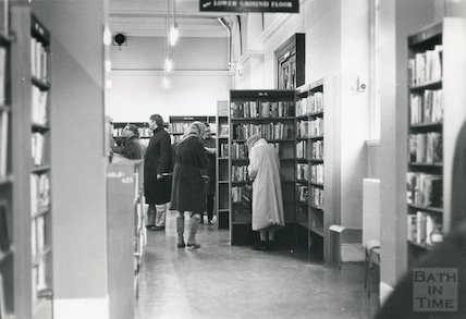 Bath Municipal Lending Library, Bridge Street, interior, c.1974